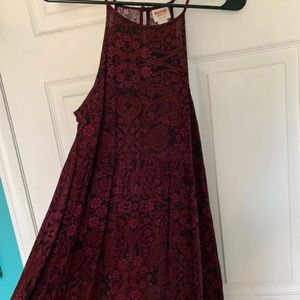 Black and Maroon Dress